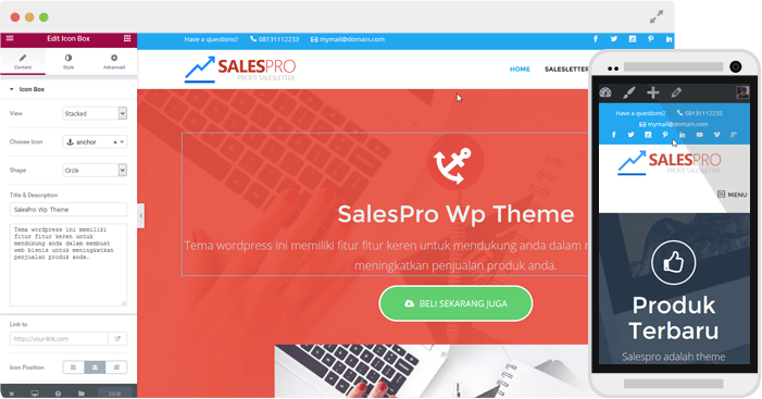 browser mockup salespro