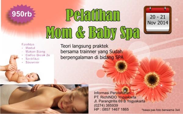pelatihan mom and baby spa november 2014