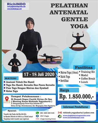 Pelatihan Antenatal Gentle Yoga Bulan Juli 2020