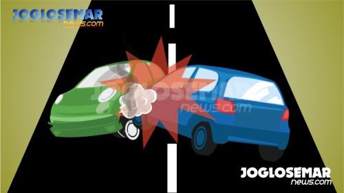 ilustrasijs kecelakaan tabrakan mobil