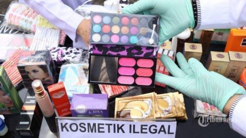 kosmetik ilegal. tribunnews
