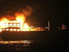 kapal terbakar