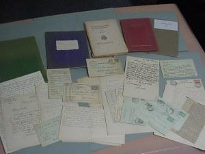 Een deel van Borgmans archief in het Letterkundig Museum.