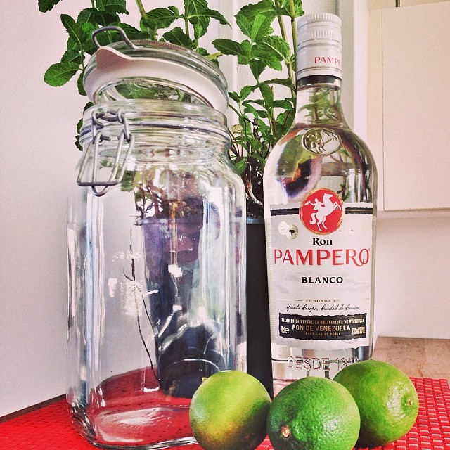 Strange infusions: Mojito-infused Rum!