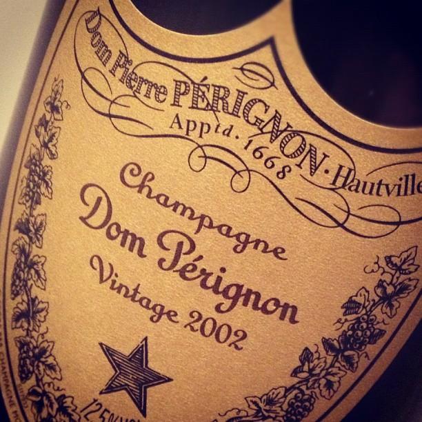 Dom Perignon 2002 label