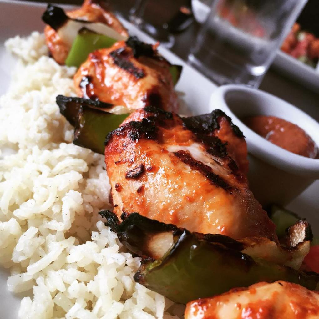 Wonderful chicken kebabs