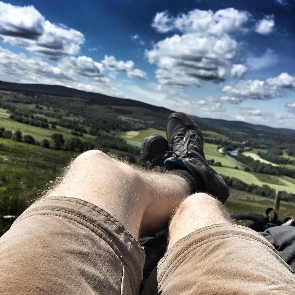 Relaxing on Scotland's Speyside Way