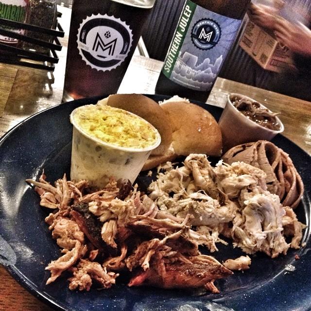 BBQ platter, Central BBQ Memphis