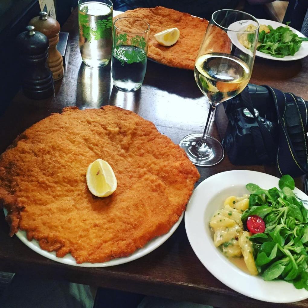 Wiener Schnitzel at Zum Figlmüller, Vienna
