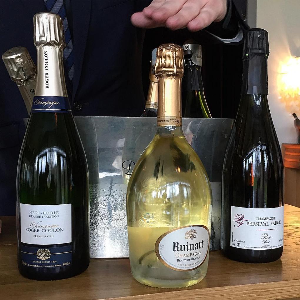 Champagne at Restaurant Frederikshøj