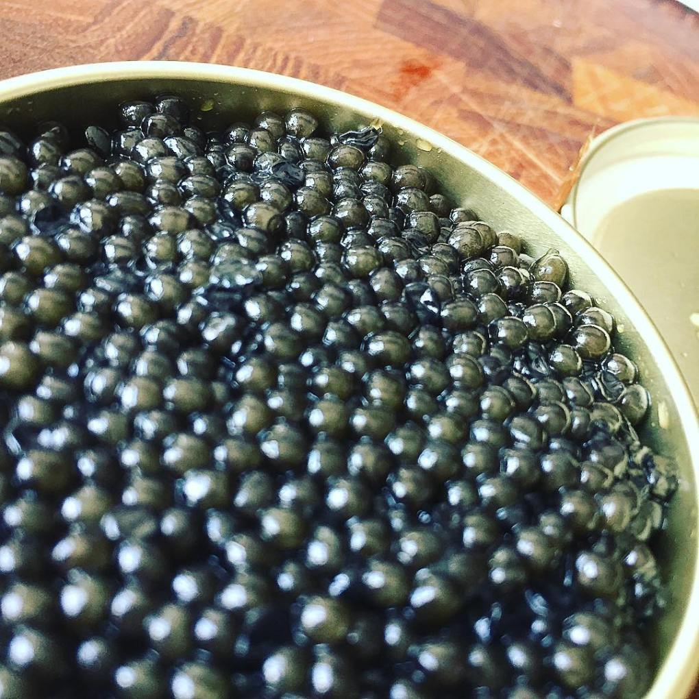 close-up of oscietra caviar