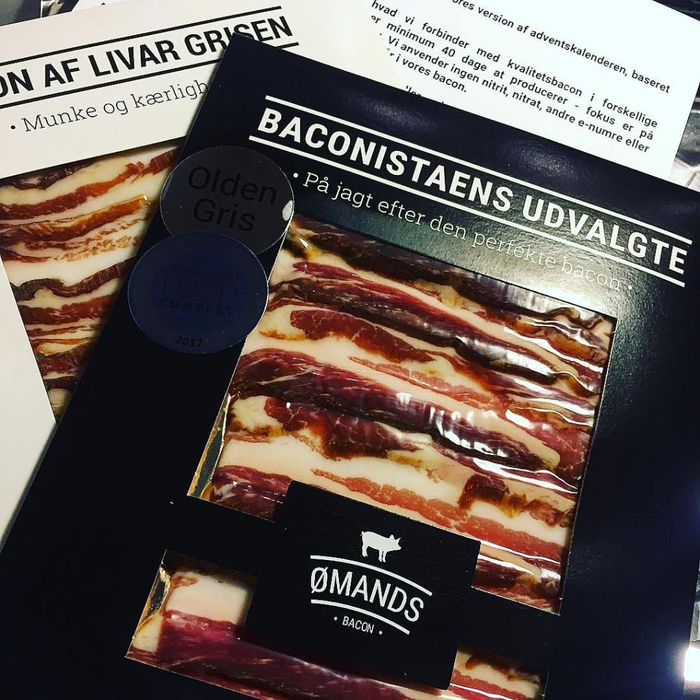 A selection of bacon from Ømands Bacon