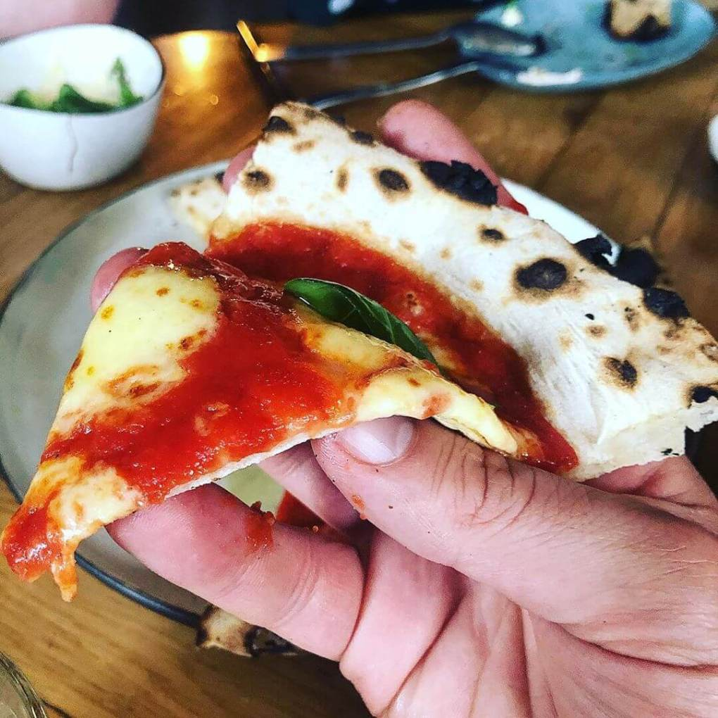 Pizza slice at Bæst Copenhagen