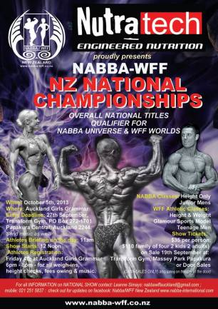 poster for NABBA WFF Nationals