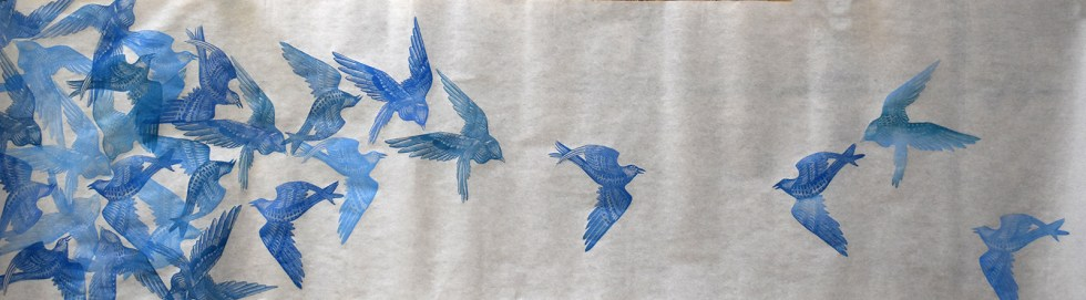Flock II Print Scroll by Johanna Mueller