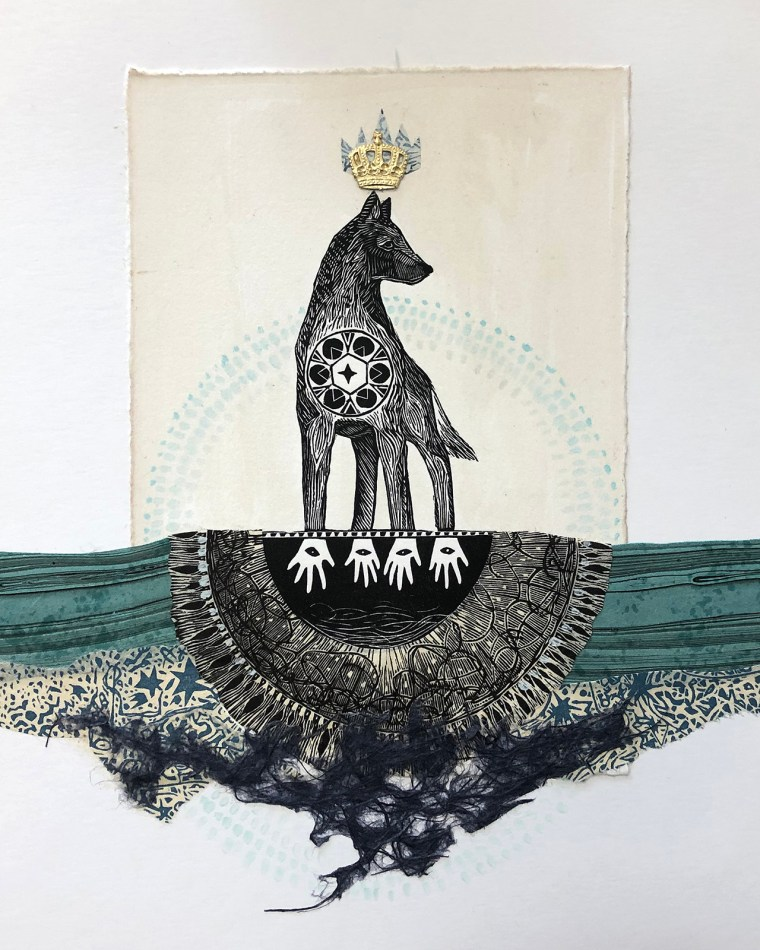 Magic in the Water Mixed Media Collage by Johanna Mueller