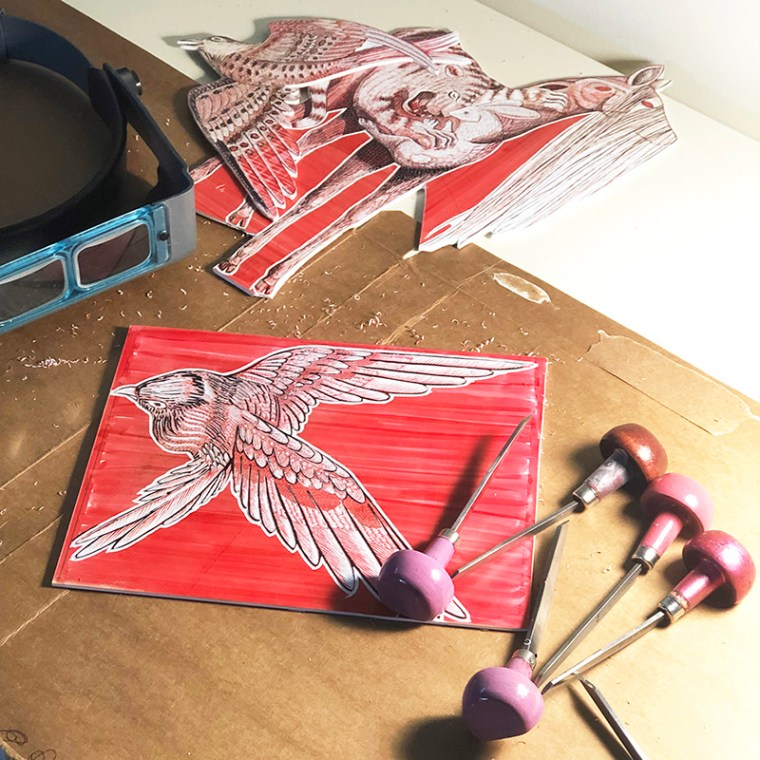 Process Carving Blocks by Johanna Mueller