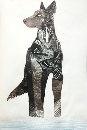 What Comes in the Stillness Mixed Media Engraving by Johanna Mueller