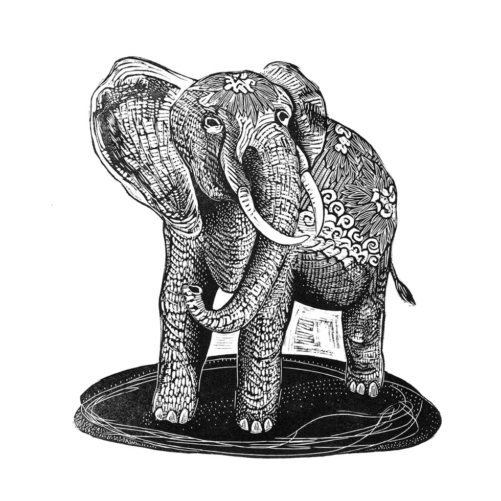 Thai Elephant Print Edition by Johanna Mueller