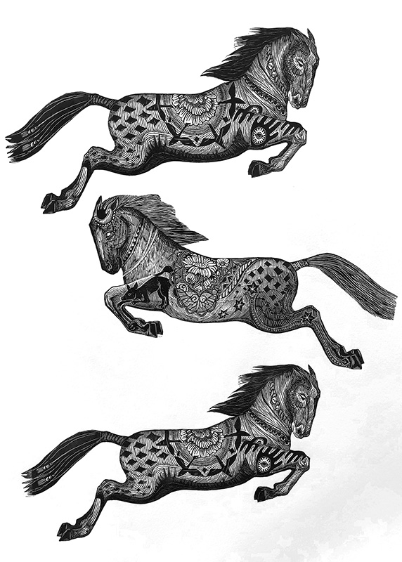 Horse Parade Print Edition by Johanna Mueller