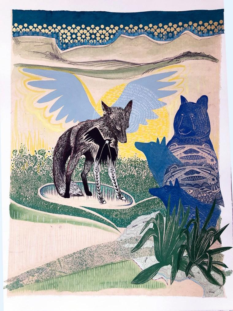 Fox-Souls-in-the-garden-by-johanna-mueller