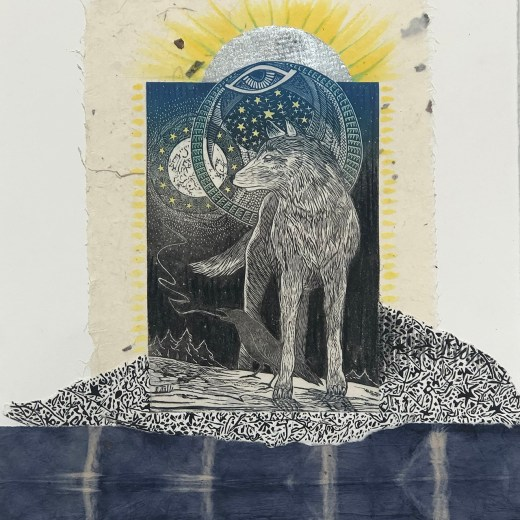 Moonrise-with-gold-mixed-media-collage-print