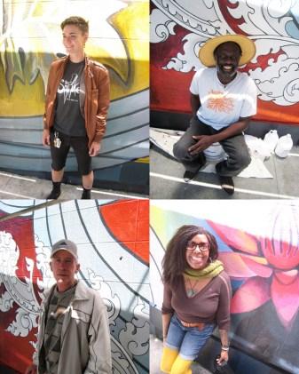 Civic Center Humminbird mural passerby