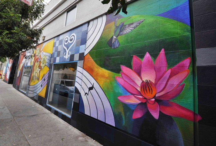 Hummingbird Civic Center mural detail