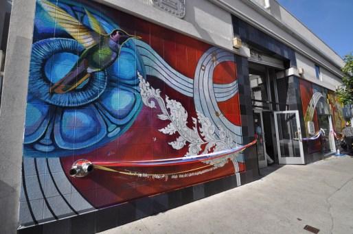 Hummingbird postofice mural opening
