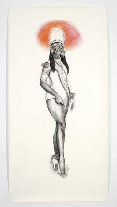 Miss-Sub-Colonial_-charcoal-pastel-on-paper_84_x44_