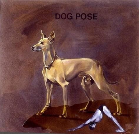 Yoga-Paintings-dog-pose