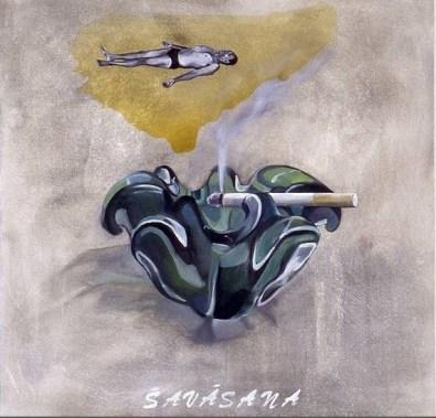 yoga painting savasana