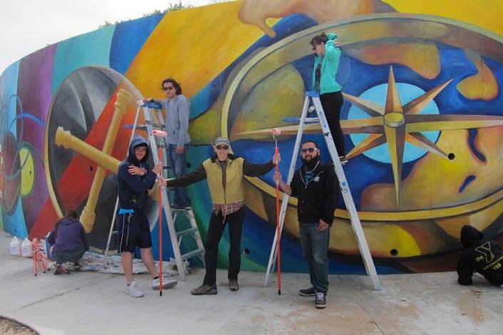 Vision Mural jo students