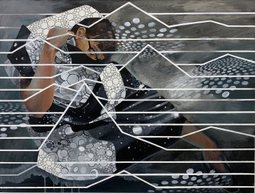 "Quasicruystal Camouflage_30"" x 40"""