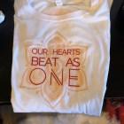 Women's Classic Heart Beats One Tee, White