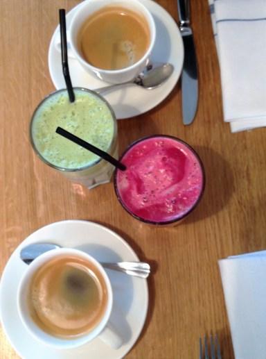 Juice och kaffe