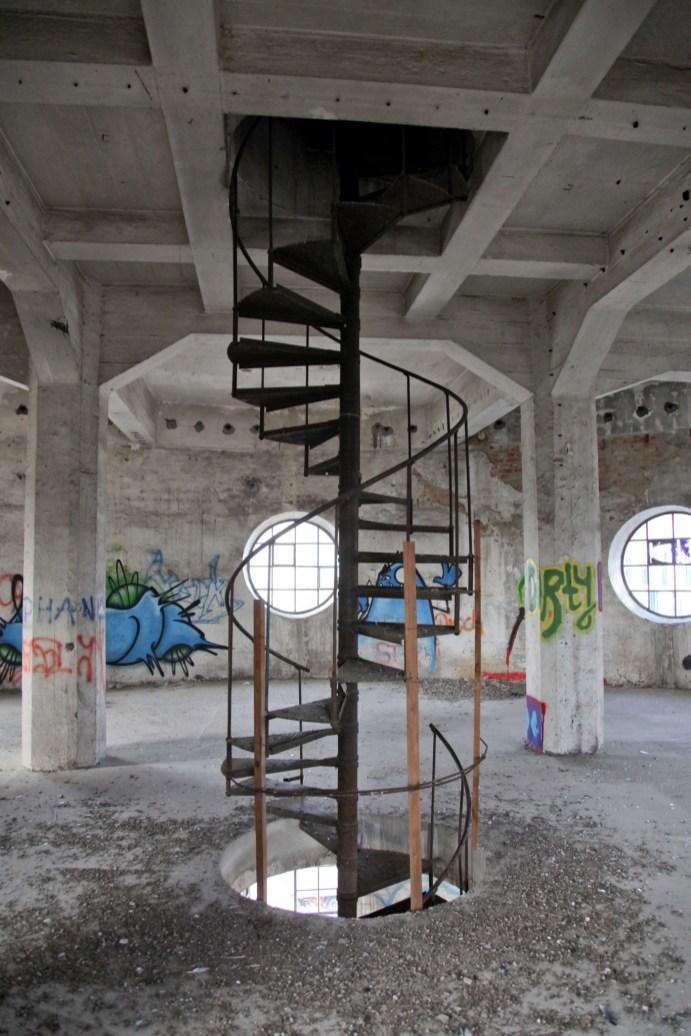 Innenansicht aus dem Wasserturm des Kavalier Dallwigk.