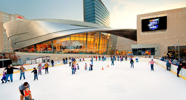 WBT Holiday on Ice outdoor ice skating rink in Charlotte NC
