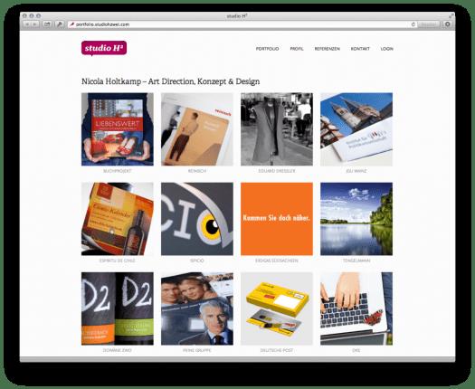 Webseite portfolio.studiozwei.com