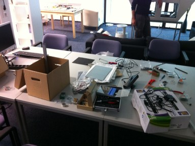 TwinTable in the Workshop in our new Laboratory Kinect Enhancement 2