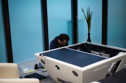 TwinTable Under Construction in our new Laboratory