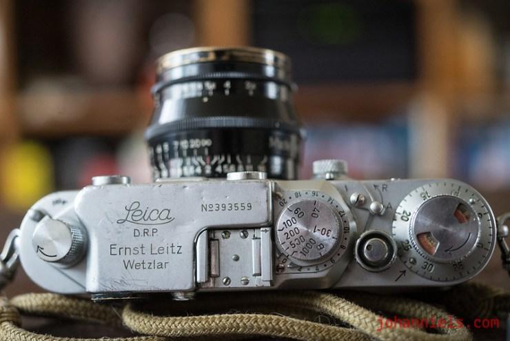 Leica IIIcK camera, wartime 1945 chrome, unmarked Kugellager