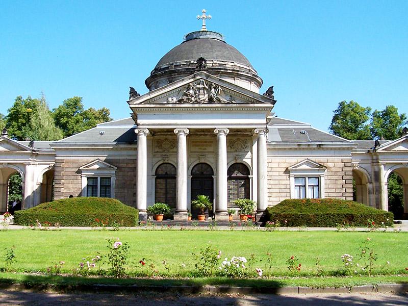 Ansicht der Kappelle des Johannisfriedhofs