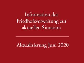 Aktualisierung Juni 2020 – Informationen der Verwaltung zur aktuellen Situation