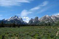 Teton Range sedd från Grand Teton National Park.