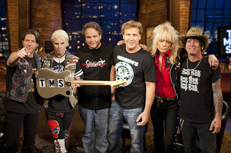 Don, Ed and Jim pose with guest shredder John 5 (not to mention his sweet TMS guitar), Michael Monroe, and Tracii Guns. From VH1.com