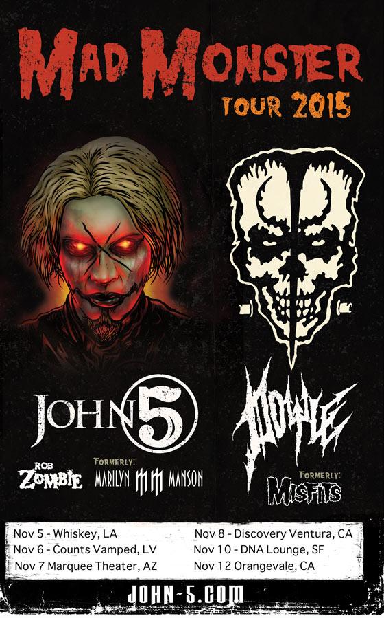 John 5 and Doyle Mad Monster tour 2015
