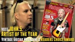 John 5 artist of the year - vintage guitar magazine
