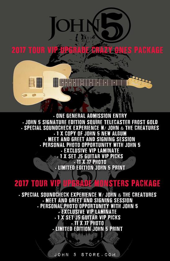 John 5 VIP package details 2017