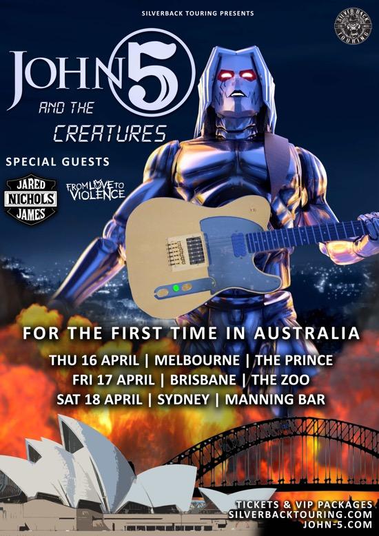 John 5 and The Creatures Jared James Nichols Australia 2020